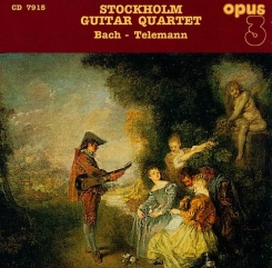 OPUS 3 CD7915 – Stockholm Guitar Quartet – Bach – Telemann